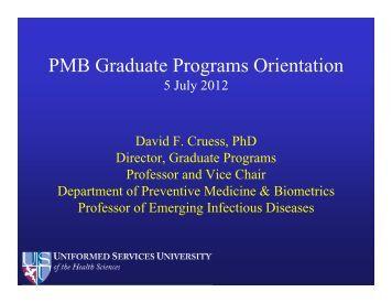 Graduate Programs Student Orientation 2012 - Uniformed Services ...
