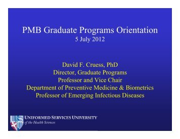 Graduate Programs Student Orientation 2012 - Uniformed Services ...