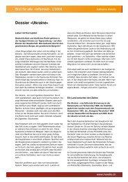 Dossier «Ukraine» - Katharina Morello