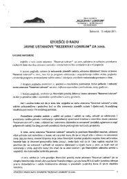 """Izvješće o radu Javne ustanove """"RezervatLokrum"""" za 2010. godinu"""