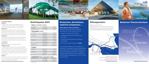 B-T Flyer4.indd - Bodensee Therme Konstanz