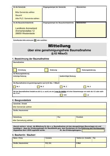 schriftliche Mitteilung - Landkreis Ammerland