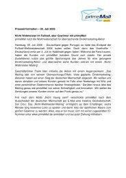 Presseinformation – 05. Juli 2006 Nicht Weltmeister im ... - primeMail