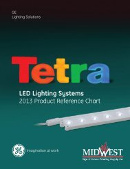 GE Tetra Lighting Systems - Midwest Sign & Screen Printing Supply