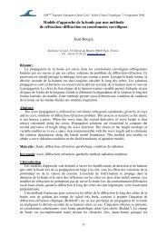 Modèle d'approche de la houle par une méthode de ... - Paralia.fr