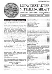 60. Geburtstag - Ludwigsstadt
