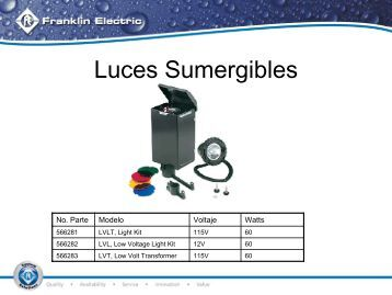 Luces sumergibles para fuentes - bomba sultana