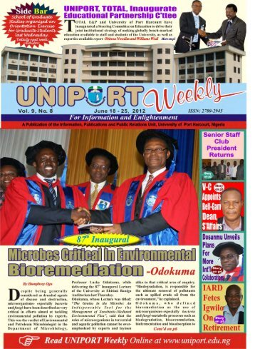 Vol. 9 No. 8 June 18 - University of Port Harcourt