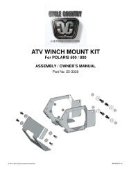 owners manual cc25-3330 - winch mount kit pol - Schuurman B.V.