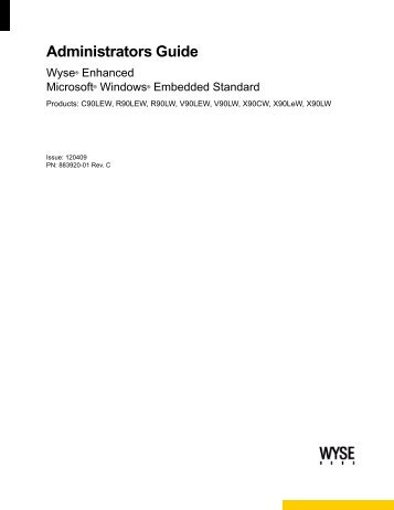 Administrators Guide: Wyse® Enhanced ... - Wyse Outlet Store