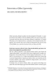 Entrevista a Gilles Lipovetsky - Revista Comunicação e Cultura