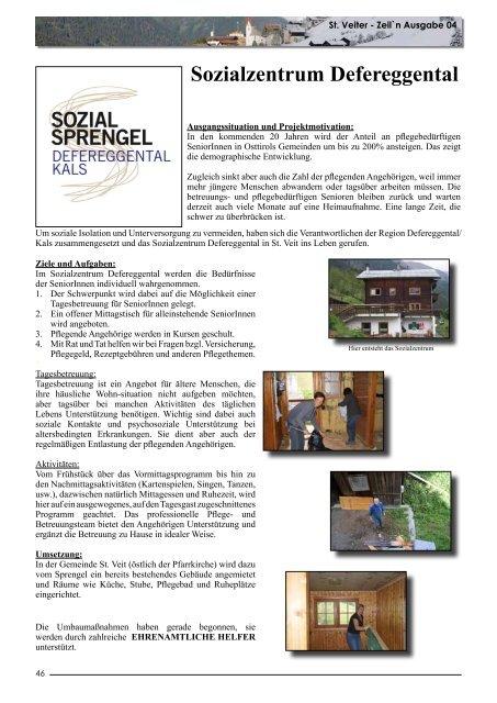 Informationsblatt der Gemeinde St. Veit i. Def