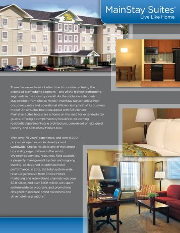 Mainstay Suites Choice Hotels Franchise