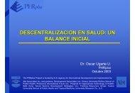 Descentralización en salud, balance inicial - PHRplus