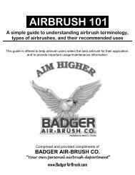 AIRBRUSH 101. - Badger Airbrush