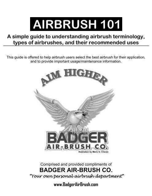 Medium Head Badger Air-Brush Co 100-LGB Bakery Airbrush LG Airbrush Large Cup