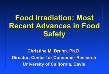 Food Irradiation: Most Recent Advances in Food Safety