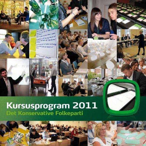 Kursusprogram 2011 - Konservative Folkeparti