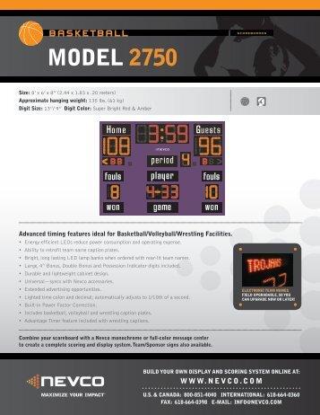 MODEL 2750 - Nevco