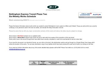Latest news from the Tram project - Nottingham University Hospitals ...