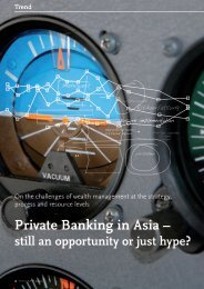 Trend - Private Banking in Asia - still an ... - solutionproviders