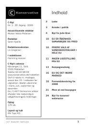 C-Nyt nr. 1 2009 - Konservative Folkeparti