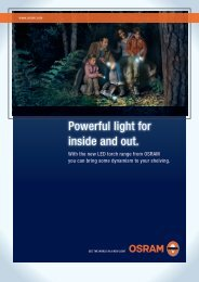 Powerful light for inside and out. - Osram