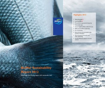 BioMar Sustainability Report 2012