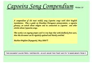 Capoeira Song Compendium Version 1.0 A ... - Cornell College