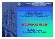 BIOLOGICAL GLUES - Cattedra Chirurgia Tor Vergata