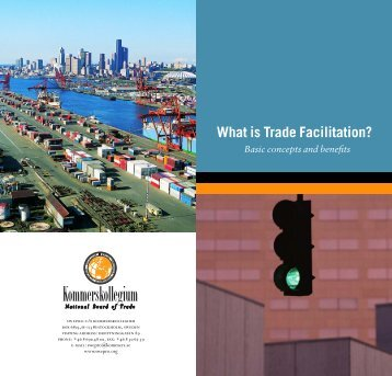What is Trade Facilitation? - Kommerskollegium