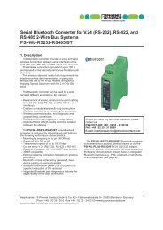 PSI-WL-RS232-RS485/BT - PHOENIX CONTACT GmbH