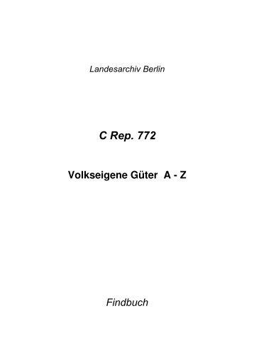 C Rep. 772 - Landesarchiv Berlin