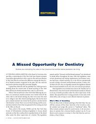 A Missed Opportunity for Dentistry - New York State Dental Association