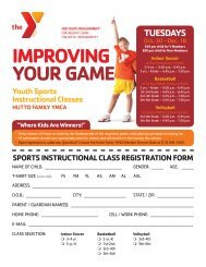 IMPROVING YOUR GAME Youth Sports Instructional Classes ...