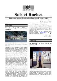 Sols et Roches Bulletin des laboratoires de ... - LMR - EPFL