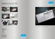 Spülen und Becken: Produktübersicht 2012 - Suter Inox AG