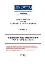 Route Standards - Australian Rail Track Corporation