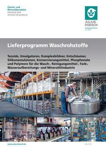 Lieferprogramm Waschrohstoffe Tenside, Emulgatoren ...