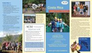Costa Rica programs brochure - Associated Colleges of the Midwest