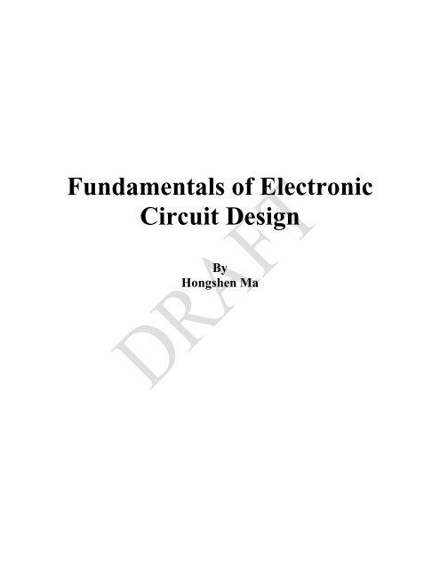 fundamentals of electronic circuit design (mdp) projectElectronic Circuit Design Fundamentals #10