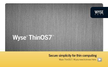 Wyse ThinOS7 - Wyse Technology