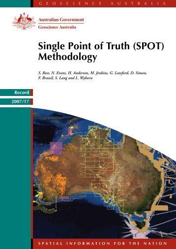 SPOT Methodology - Geoscience Australia