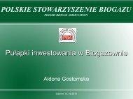 A.Gostomska, Polskie Stowarzyszenie Biogazu