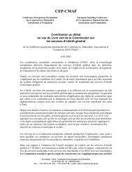 [FR] Contribution Livre Vert SIG - Social Economy Europe