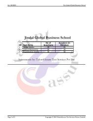 Download the JAT Sample Question - Jgbs.edu.in