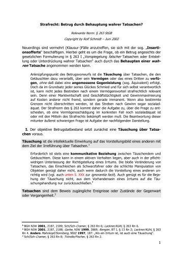 I. Strafrecht: Das Einverständnis zum ... - juraplus.de