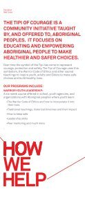 Tipi of Courage – brochure - Canadian Red Cross - Page 3
