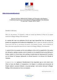 Discours de Pierre Moscovici - Ministère de l'Economie et des ...
