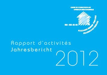 Rapport d'activités Jahresbericht 2012 - Centre LAVI